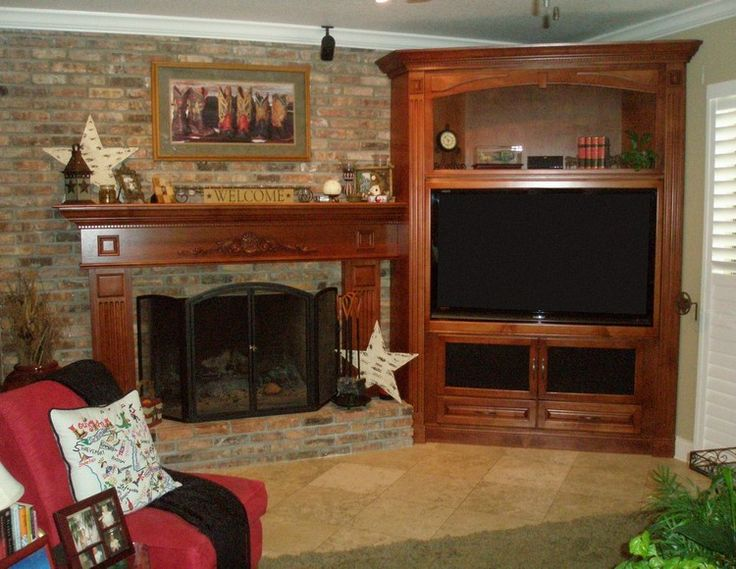 corner entertainment center for flat screen pictures  Custom entertainment centers and wall