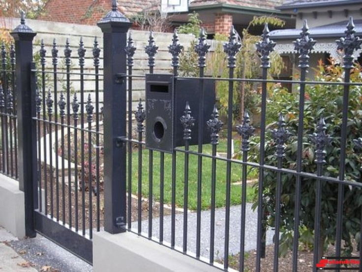 Wrought Iron Fencing Gatemailbox Fence Options