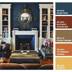 Wall Color Combination For Living Room Decoration India Love The Sophisticated Of Navy Blue With Camel ...