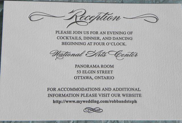 Reception card wording  Wedding Invitation Ideas  Pinterest  Receptions Reception card and Cards
