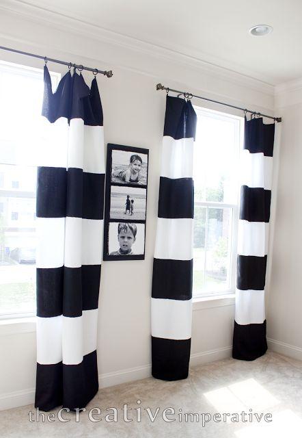 25 Best Ideas About Stripe Curtains On Pinterest Black Curtains