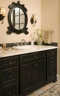 Best 20+ Black cabinets bathroom ideas on Pinterest