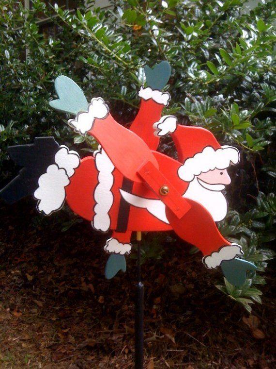 Santa Whirligig Woodworking Pheasant And Yard Art