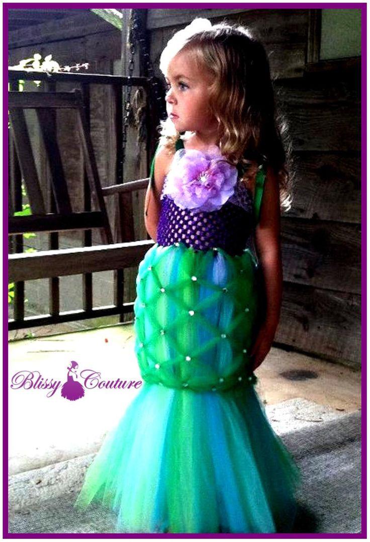 I love this Little Mermaid Tutu Halloween Costume.