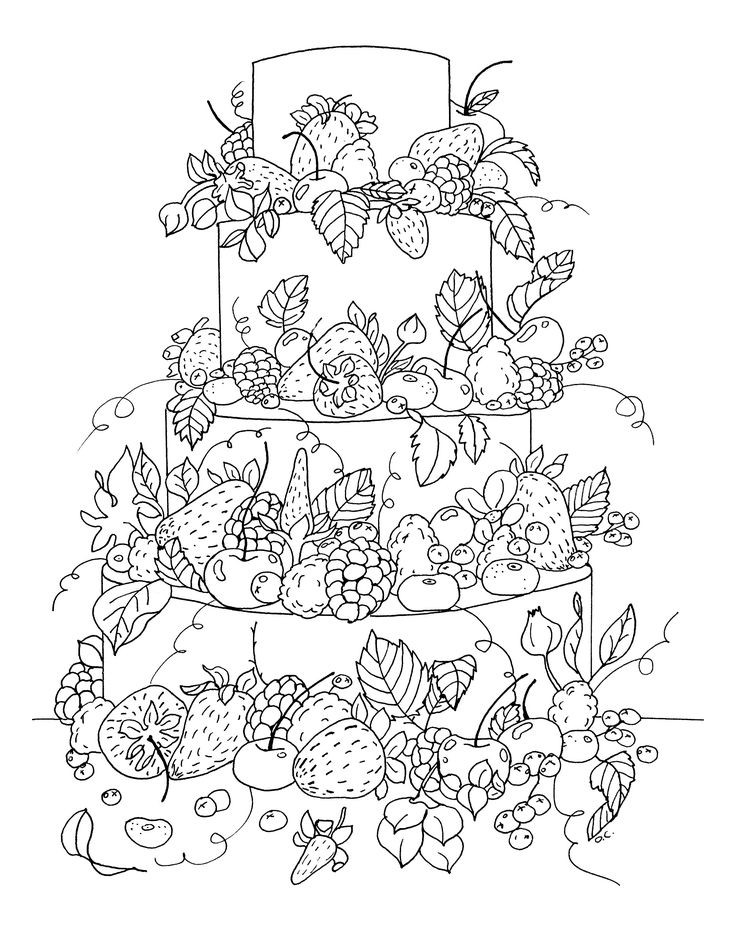 17 Best images about Adult Coloring Pages: Food on
