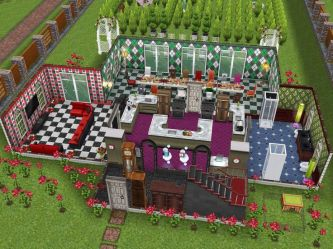 sims freeplay alice wonderland floor houses inspired simsfreeplay thesims blueprints single visit long