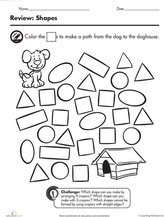 Learning shapes, Shape and Squares on Pinterest