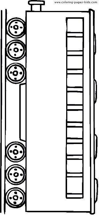 Tram color page transportation coloring pages, color plate