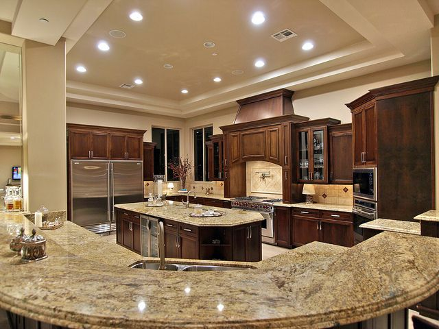Best 25 Big kitchen ideas on Pinterest  Dream kitchens Microwave in pantry and Large kitchen