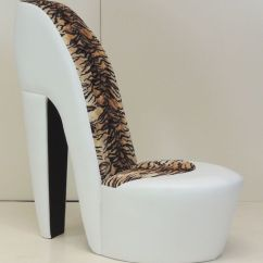 High Heel Shoe Furniture Chair Antique Gooseneck Rocking Value White Stiletto / Tiger Animal Print | Animals, Spa Pedicure Chairs And ...
