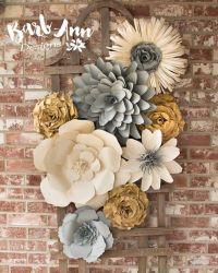 25+ best ideas about Flower wall decor on Pinterest ...