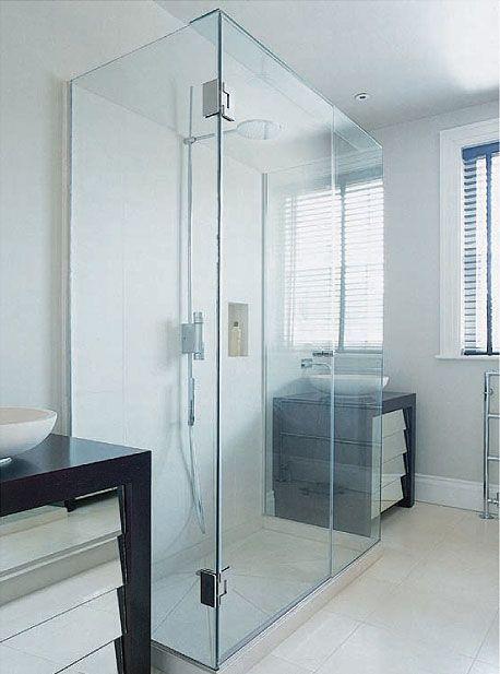 Three Sided Glass Shower Enclosure Bathroom Inspiration