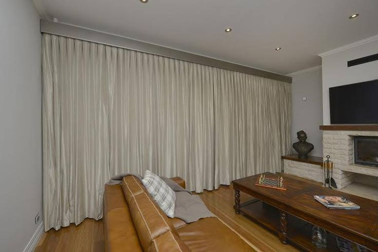 I really love these full length curtains covering the