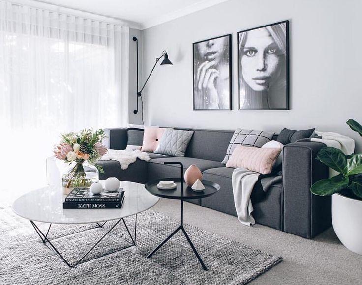 25 best ideas about Grey sofa decor on Pinterest  Grey