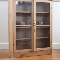 Sliding Kitchen Cabinet Doors Cabinets Orlando Antique Pine Display With Glass Front | ...