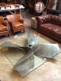 propeller glass table | Decor8 | Pinterest | Restaurant ...