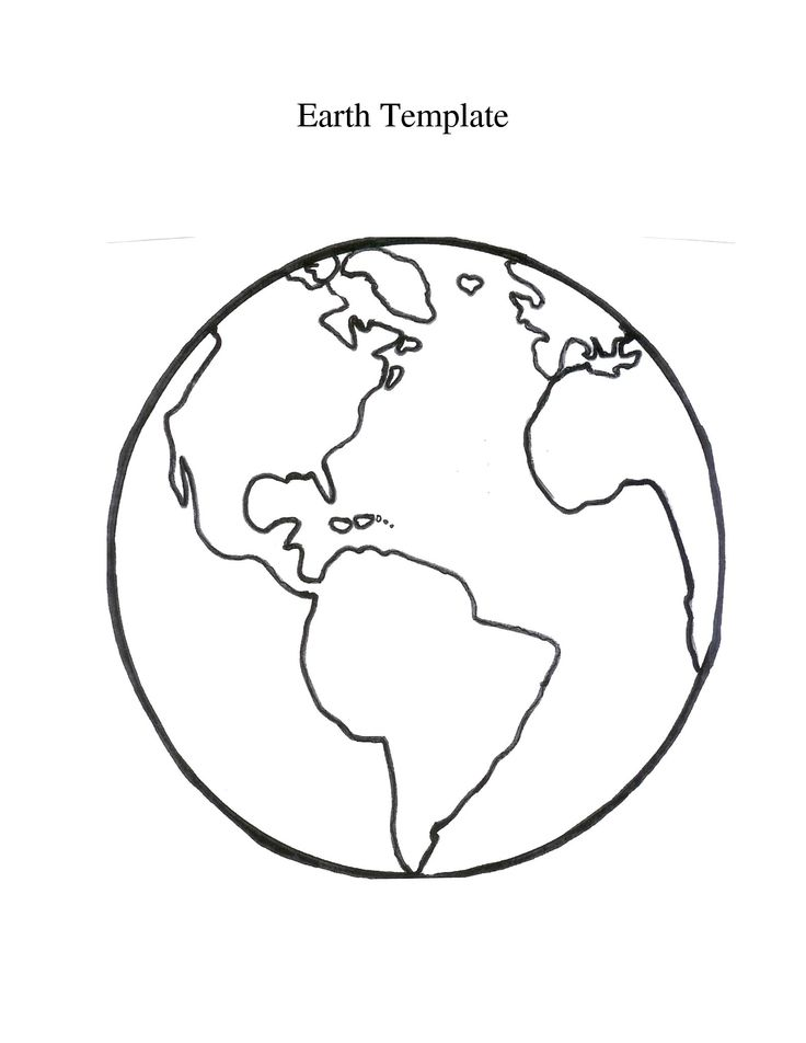 Planet Earth Clipart Outline