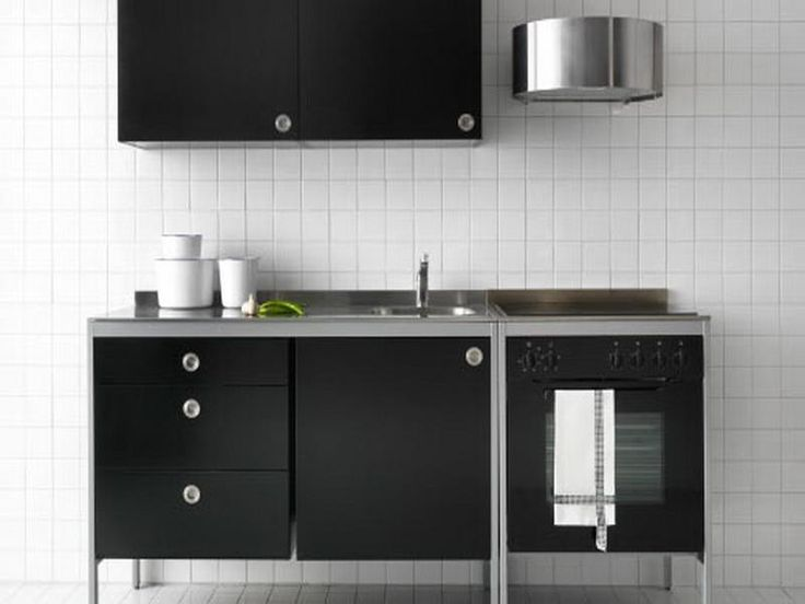 Black Ikea Free Standing Kitchen Cabinets Kitchen