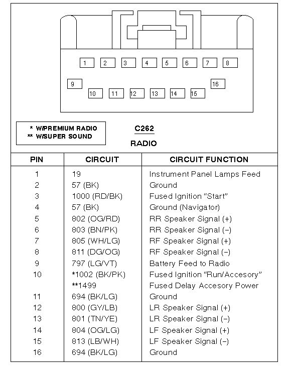 2007 ford focus radio wiring diagram  se wiring diagram