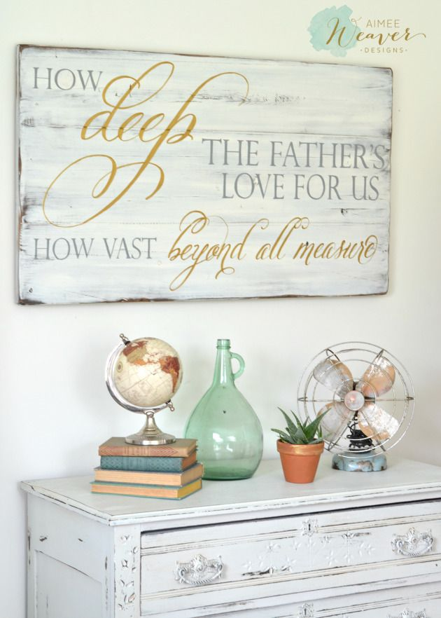 """""""How Deep The Father's Love For Us"""" Wood Sign"""