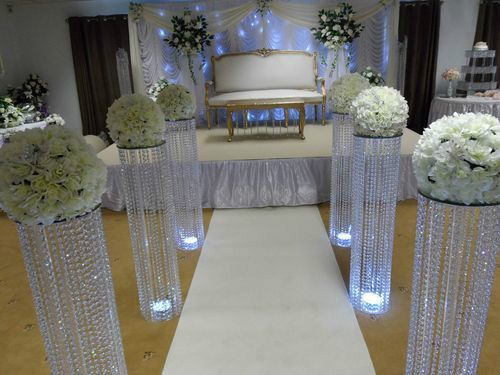 hanging chair ebay covers storage 3 feet iridescent wedding aisle decoration crystal pillars pedestals columns | receptions ...