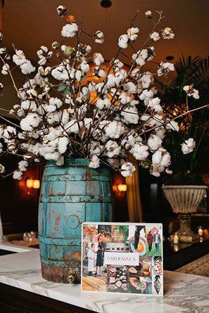 Cotton Wedding Bouquets  Centerpieces  Cherry blossoms