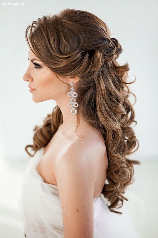 25 Best Ideas About Half Updo On Pinterest Bridal Hair Half Up