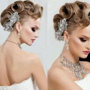 faux-hawk updo hair and make