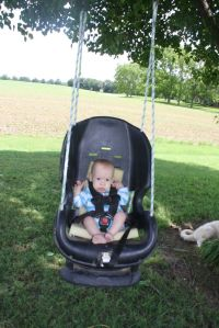 infant swing made out of an old carseat | crafts ...