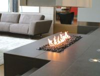 contemporary fireplace (gas open hearth) LINEAR BURNER ...