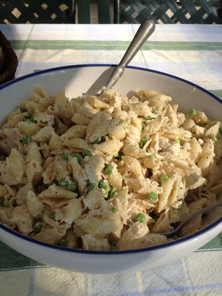 Tuna Macaroni Salad…can't wait to make it.  It is one of my favorite dishes