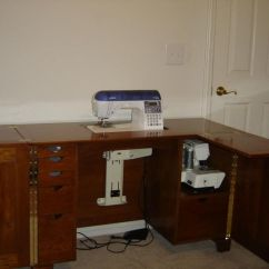 Unfinished Base Kitchen Cabinets Mohawk Rugs Homemade Sewing Cabinet   Machine Cabinet/table ...