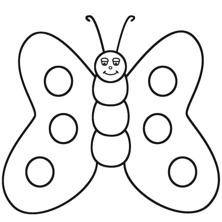 Butterfly, fatty-cute-butterfly-coloring-pages: Fatty Cute