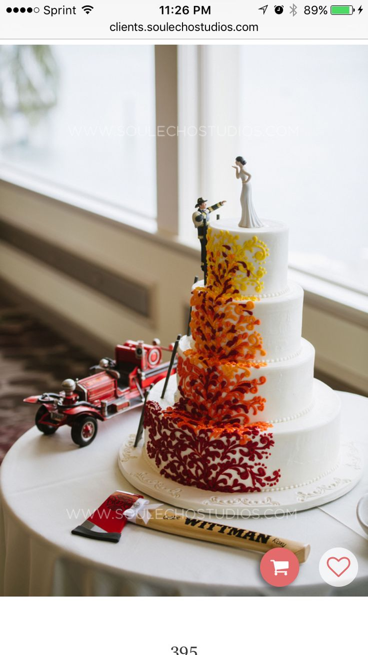 25 best ideas about Firefighter wedding cakes on Pinterest  Firefighter wedding Firefighter