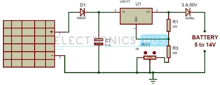 shunt signal wiring diagram bosch pa system solar battery charger circuit using lm317 voltage regulator | charger, and ...