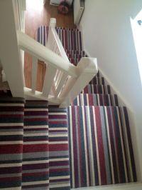 Bird's Eye view of Red/Gray Striped Stair Runner | Ideas ...