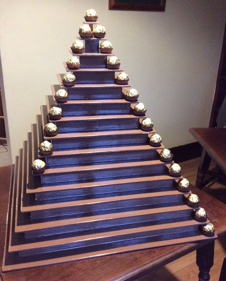Ferrero Rocher Wooden Chocolate Pyramid Stand 3 To 15