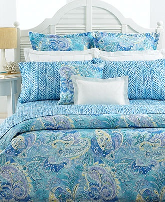 Lauren Ralph Lauren Bedding Jamaica Blue Paisley Collection  Bedding Collections  Bed  Bath