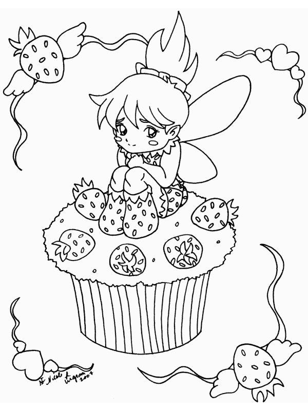 Malvorlage Muffin