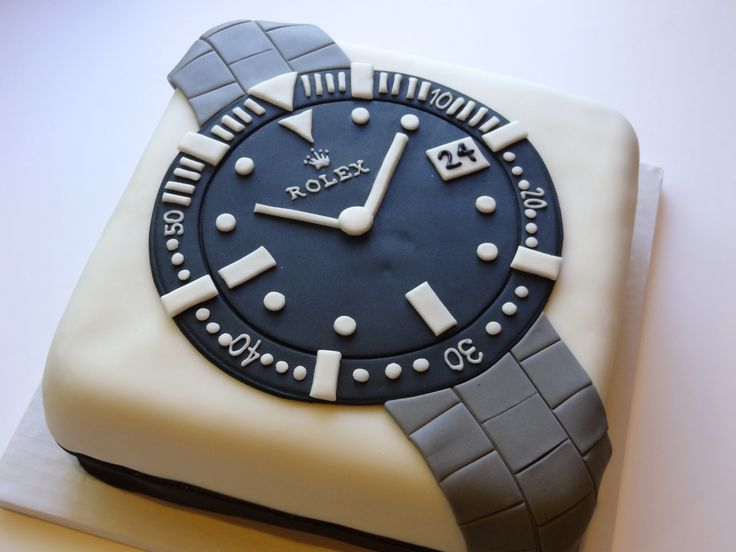 Rolex Watch Cake My Cakes Pinterest Rolex Cakes And