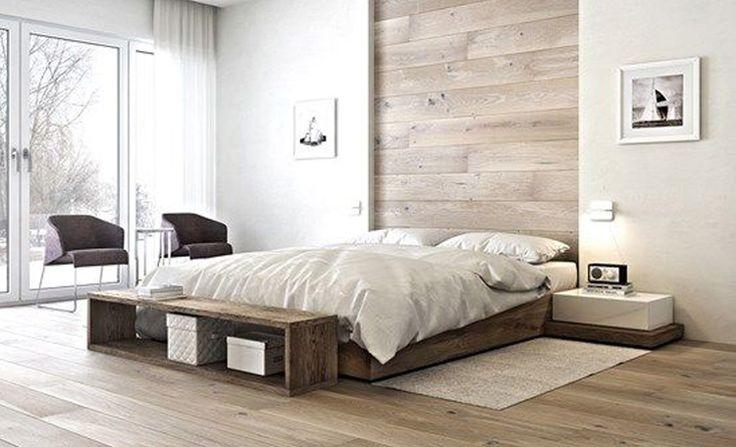25 beste ideen over Houten slaapkamer op Pinterest