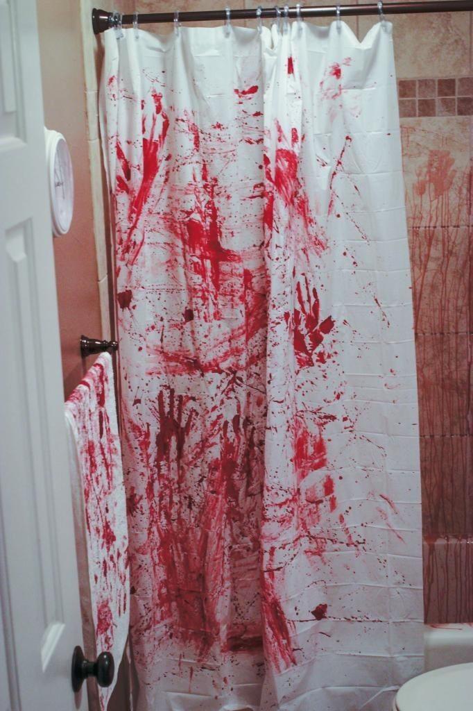 DIY Murder Scene Halloween Bathroom Decorations 2014