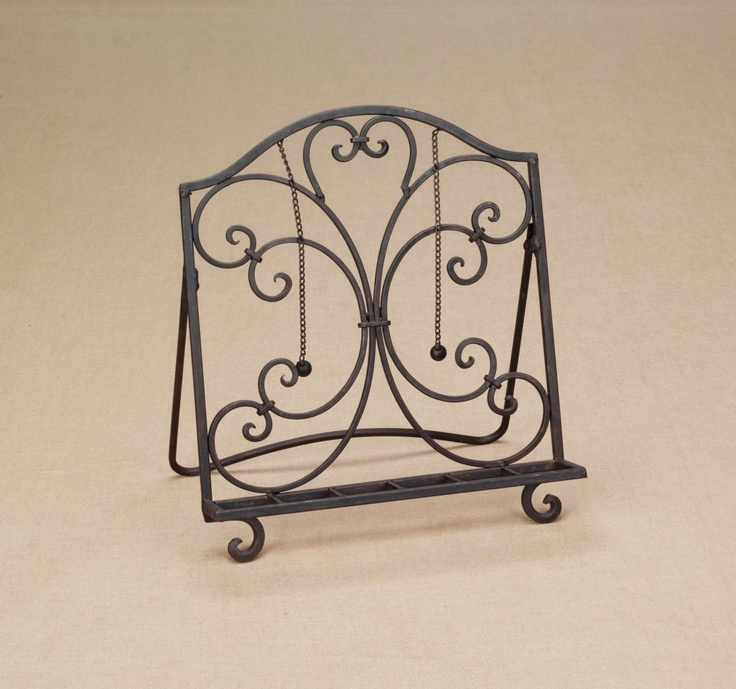 hold cookbook metal stand iron