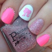barbie nails nail design love