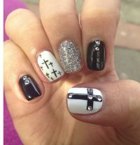 14 best images about cross nail designs on Pinterest ...