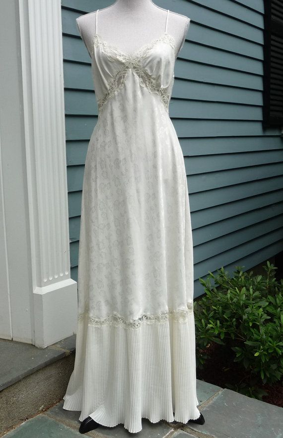 Cream Bridal Nightgown Full Floor Maxi Length Ivory Night