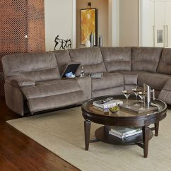Grey Power Reclining Sofa In Sections Liam Fabric Motion Sectional Living Room ...