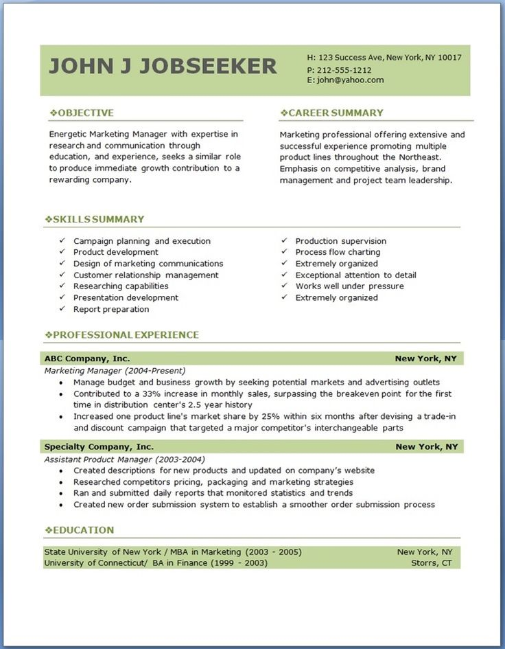 free template professional resume design