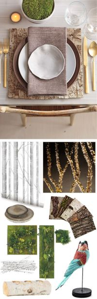 Build Your Own Enchanted Forest | Rustic table settings ...