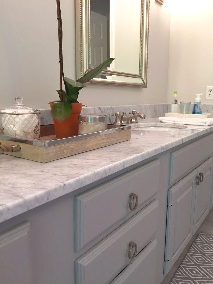 Carrera marble vanity top New pulls Painted vanity in